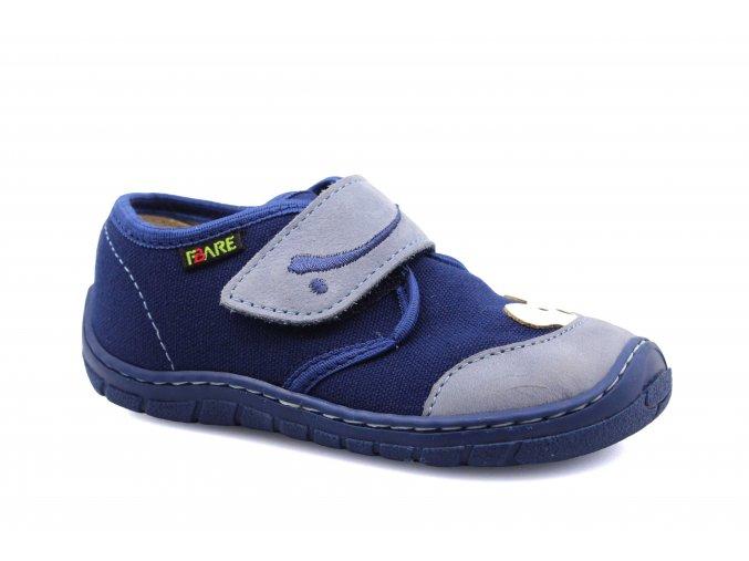 boty Fare 5111402 modré plátěnky medvídek (bare)