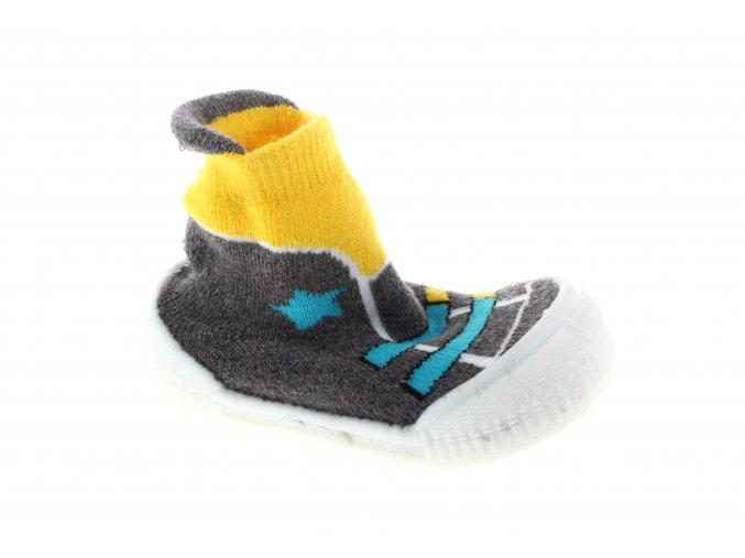 ponožky se silikonovou podrážkou