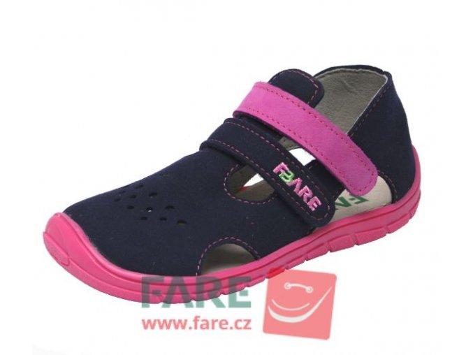 sandály Fare 5164251 fialovo-růžové (bare)