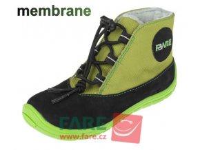 boty Fare 5143231 zelené s membránou (bare)