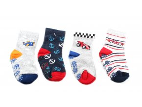 protiskluzové ponožky řidič, 4 páry