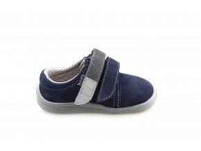 boty Beda nízké Lucas modré s šedou (BF 0001/W/nízký)