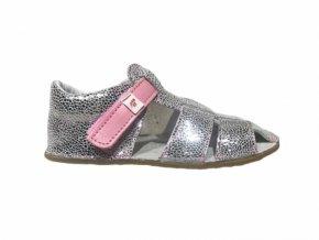 sandály Ef silver