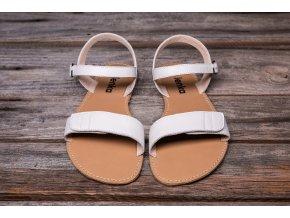 barefootové sandály bílé
