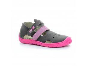 sandály Fare 5262252/5164252 šedo-růžové (bare)