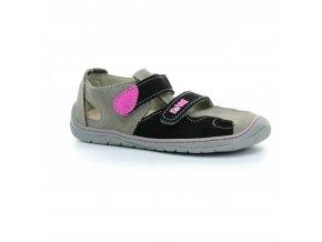 sandály Fare 5261252 černo-růžové (bare)