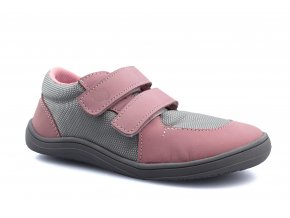 boty Baby Bare Shoes Febo Sneakers Grey/Pink on grey
