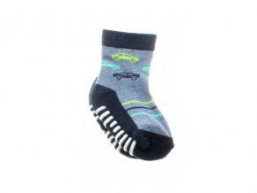 protiskluzové ponožky Stripy car, 1 pár