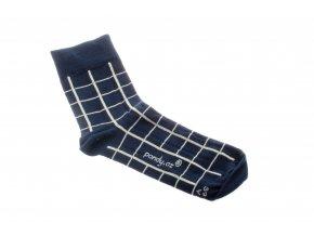 ponožky vzorované síť modrá