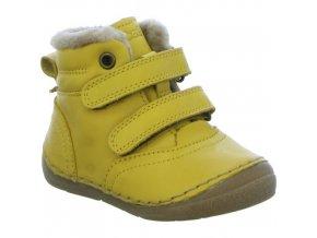 žluté zimní boty
