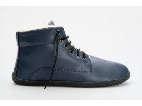 zimni barefoot vegan boty modra (1)