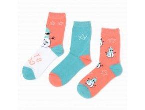 ponožky bavlněné sněhulák