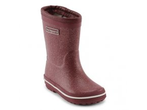 glitter rubber boot warm