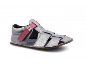 sandály Ef Stříbrná