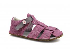 sandály Ef Růžová s šedou