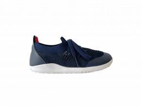 boty Bobux Play Knit Navy + Red