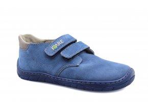 boty Fare 5212212 modré se šedým lemem 2 suché zipy (bare)