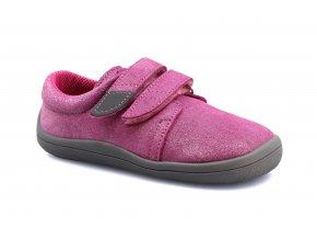 boty Beda nízké Jane s růžovou na šedé (BF 0001/W/nízký)