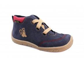 boty Fare B5421201 modré se šnekem kotníčkové (bare)