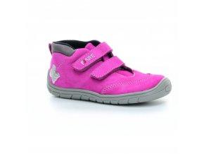 boty Fare B5421252 růžové s motýlkem kotníčkové (bare)