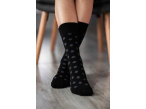 zimne barefoot ponozky bodky cierno sive 9655 size large v 1