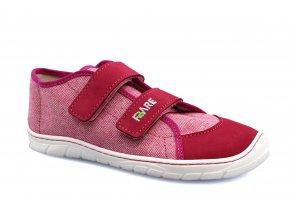 boty Fare 5213451 růžovo-malinové plátěnky (bare)
