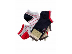 bambusové nízké ponožky Bambusoxx marine lover, 3 páry