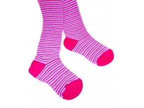 Punčocháče Stripes Tenké Červené vel. 23-25 (size 3)