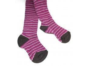 Punčocháče Stripes Tenké Hnědé vel. 23-25 (size 3)