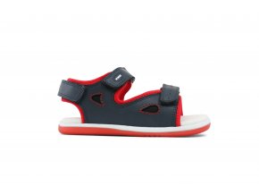 Bobux Navy/Red Sporty Sandal Surf