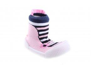 ponožkoboty Scorpio Stripy Pink