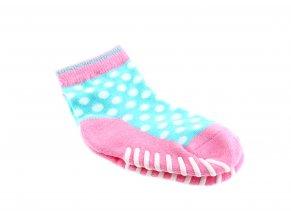 protiskluzové ponožky White Dots, 1 pár (vel. 20-22)
