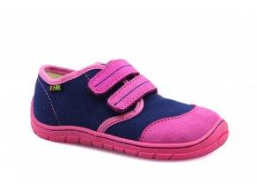 boty Fare 5111452 růžovo-modré plátěnky (bare)