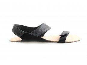 černé barefoot sandály