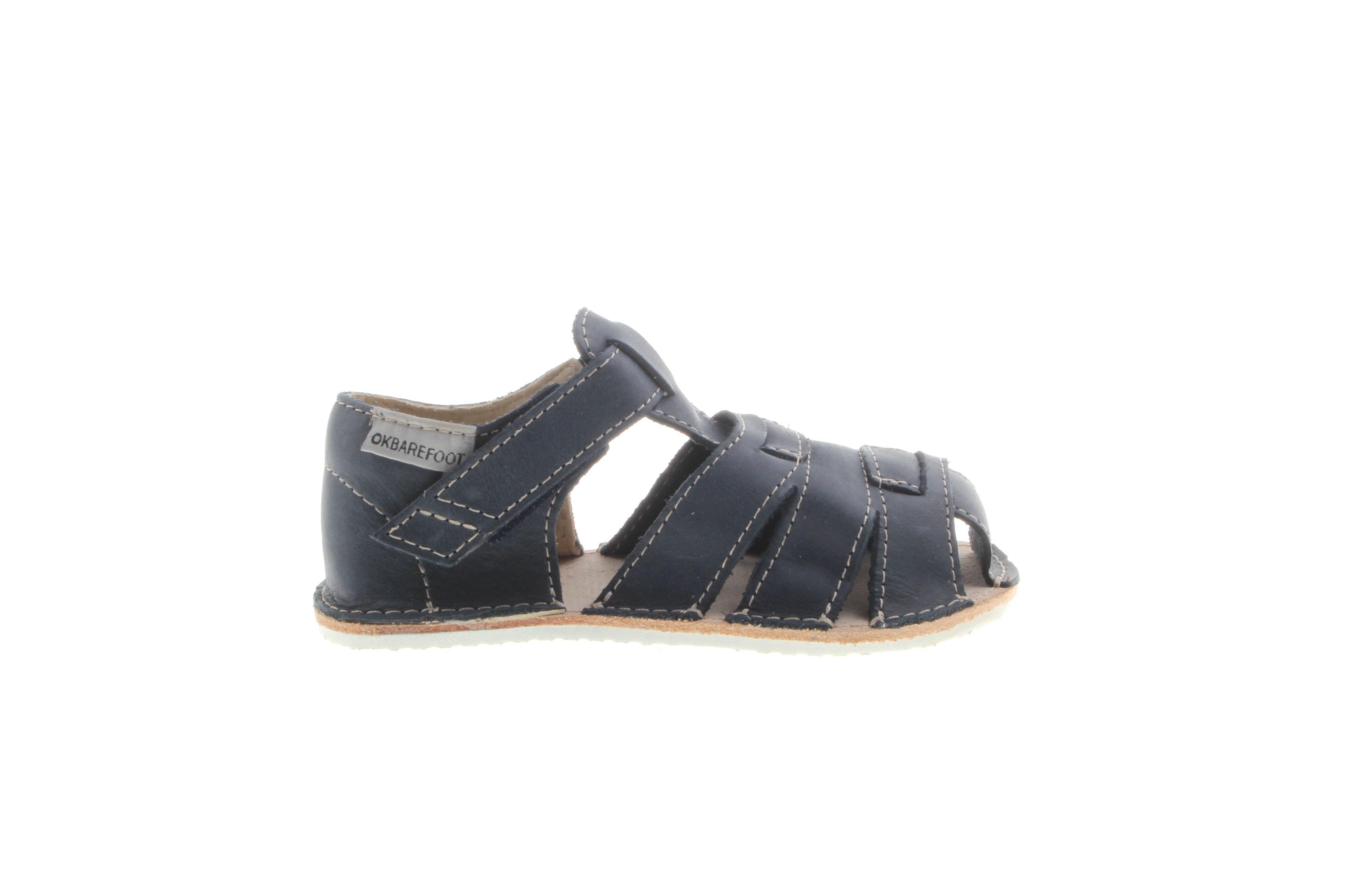 Orto Plus/OKbarefoot sandály Orto Plus Palm tmavě modré (BF-D201-51/H), šíře H, 4 mm velikosti bot EU: 24
