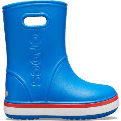 Levně holínky Crocs Crocsband Rain Boot - Flame/Bright Cobalt velikosti bot EU: 33