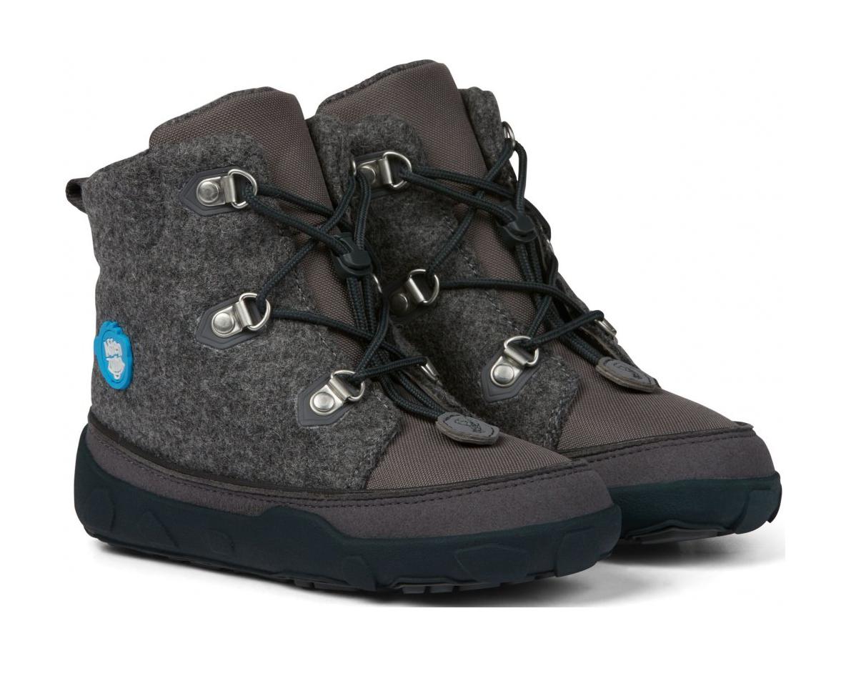 boty Affenzahn Minimal Midboot Wool Lace Dog - Grey Velikost boty (EU): 26, Vnitřní délka boty: 171, Vnitřní šířka boty: 64