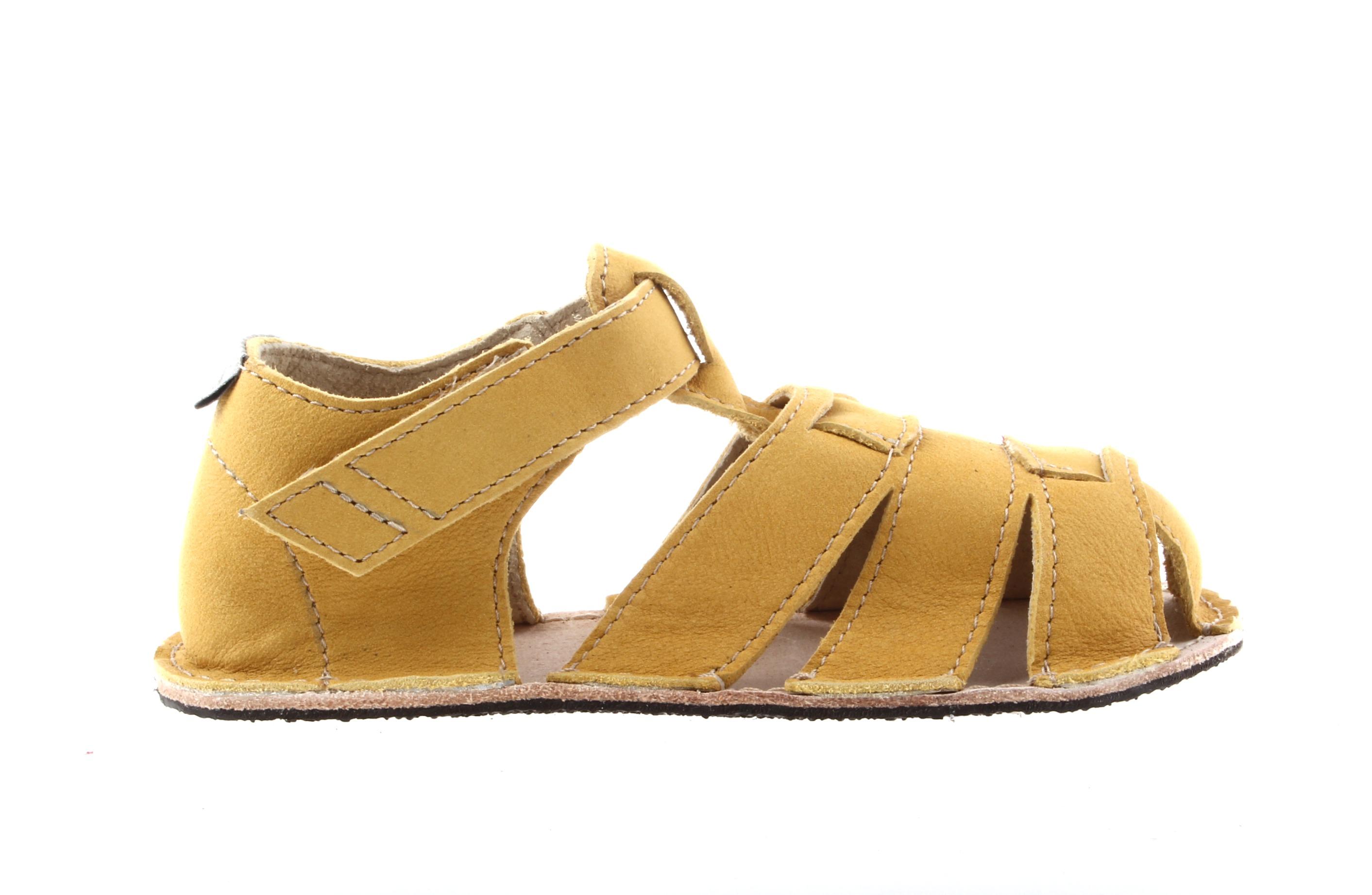 Orto Plus/OKbarefoot sandály Orto Plus Palm pískově žluté (BF-D201-010/G), šíře G, 2 mm velikosti bot EU: 24
