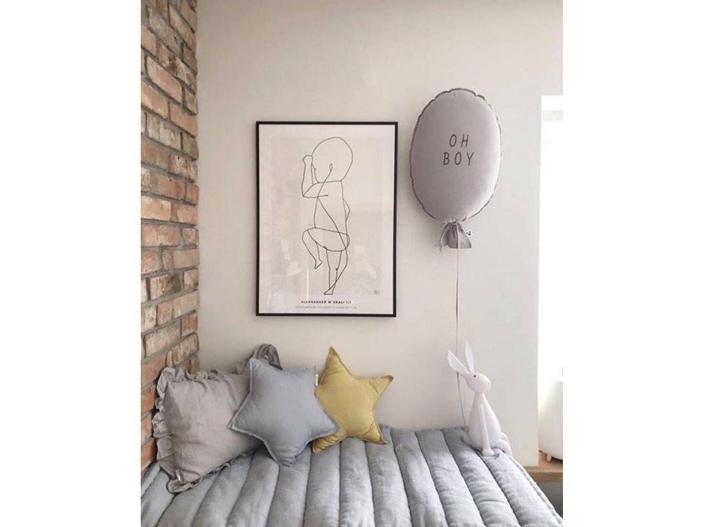 Vankúšik Malomi Balloon Light grey