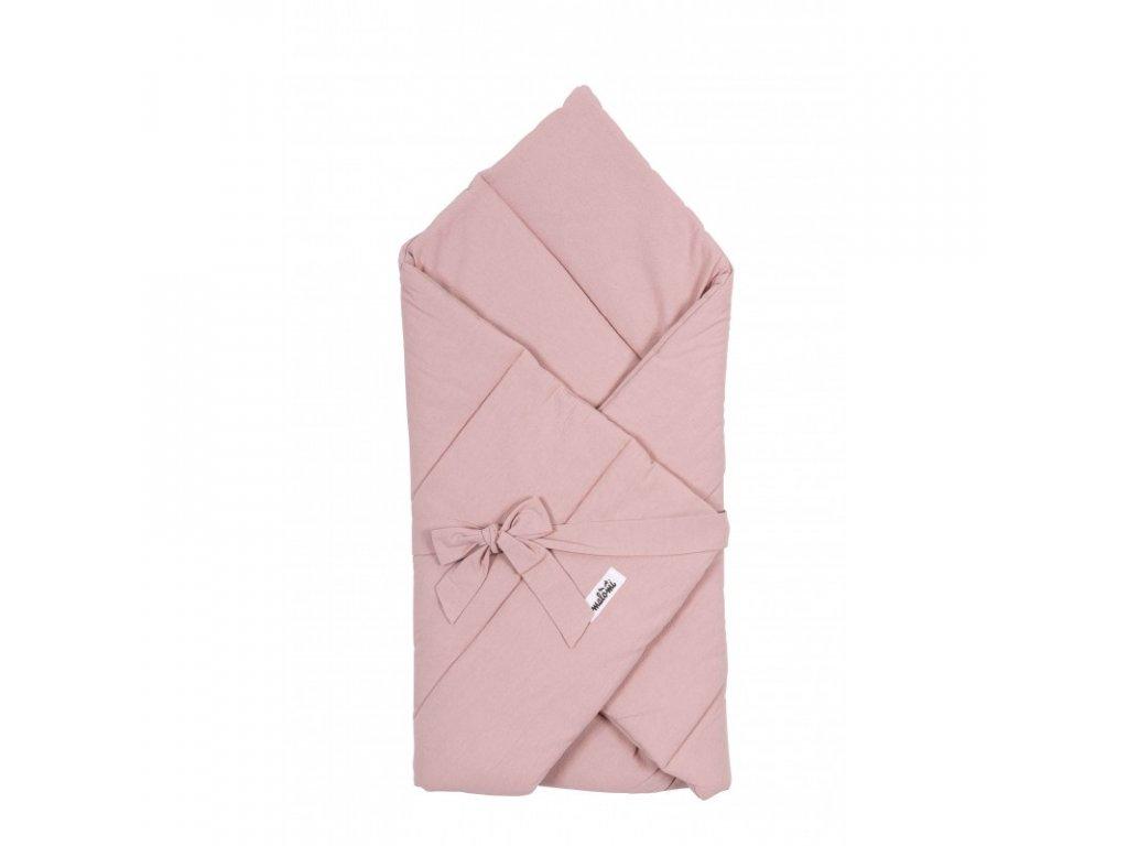 zavinovacka prikryvka WASHED COTTON dusty pink