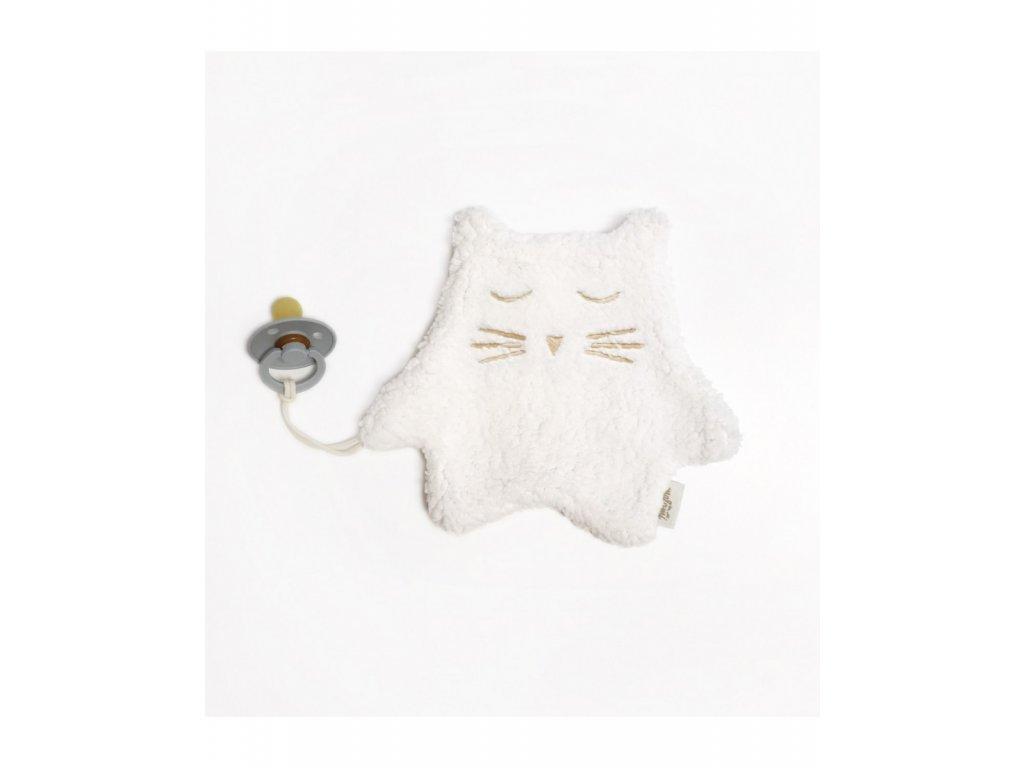 pacifiercuddly toy ecru kitten