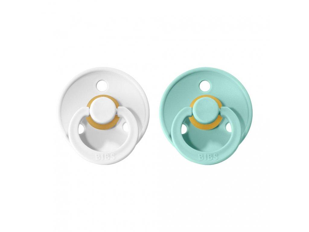 BIBS Colour cumliky z prirodneho kaucuku 2ks White+Mint