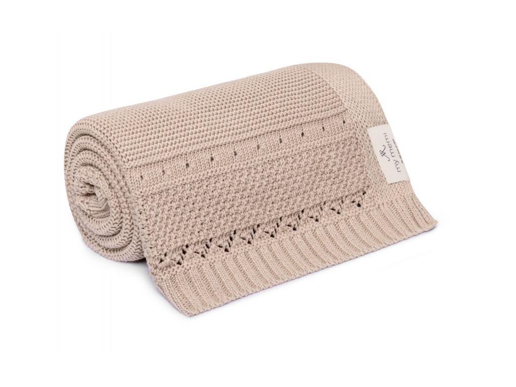 organic cotton blanket 80x100 beige