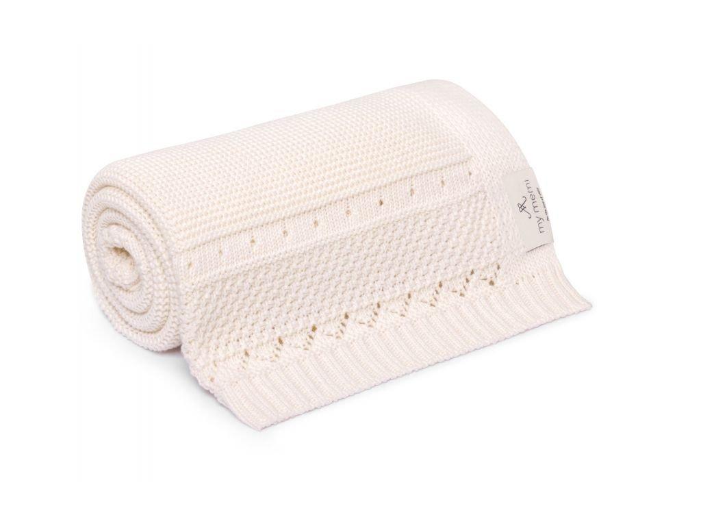 organic cotton blanket 80x100 ecru