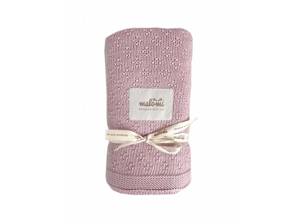 bamboo blanket dusty pink