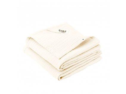 BIBS muselinove plienky z BIO bavlny 2ks Ivory