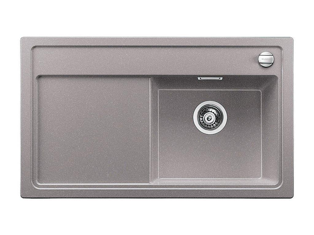 Blanco ZENAR 45 S-F Silgranit aluminium dřez vpravo s excentrem, přís. krájecí deska dřevo