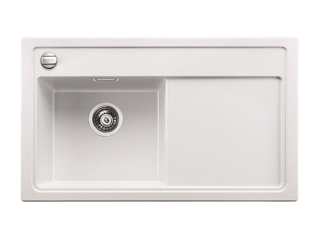 Blanco ZENAR 45 S-F Silgranit bílá dřez vpravo s excentrem, příslušen krájecí deska dřevo