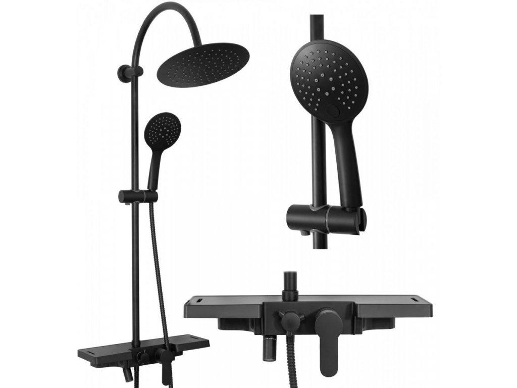 REA - Sprchový set Vigo černý