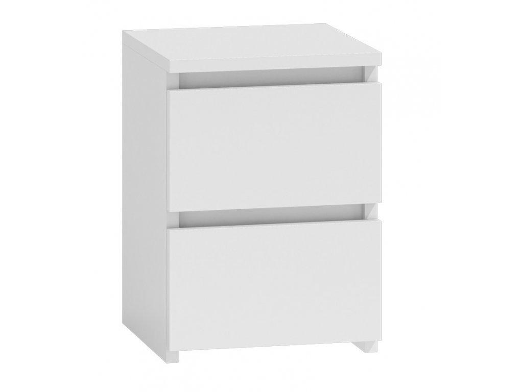 Noční stolek MALWA M2, bílý